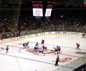 Opening faceoff - KRAFT Hockeyville 2011
