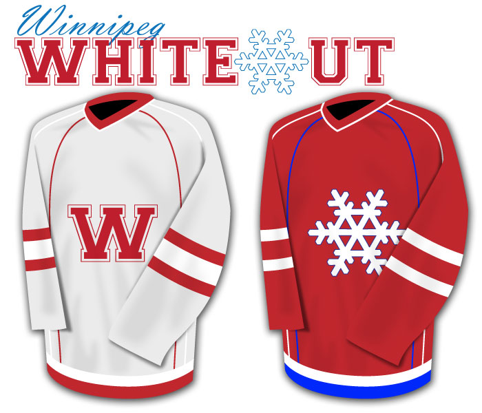 Winnipeg Whiteout home &amp; away jerseys